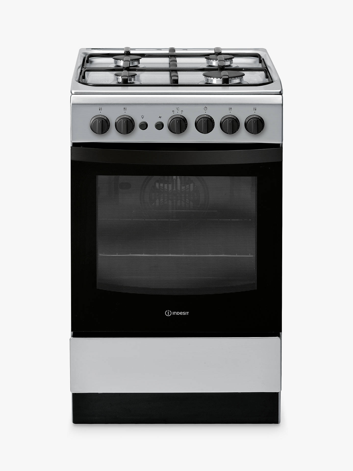 Buy Indesit Cloe IS5G1PMSS Gas Cooker, Silver Online at johnlewis.com