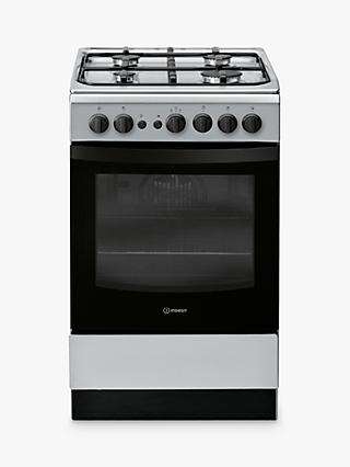 Indesit Cloe IS5G1PMSS Gas Cooker, Silver
