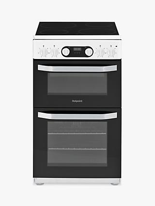 Hotpoint HD5V93CC 50cm Double Electric Cooker, A Energy Rating