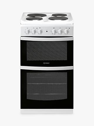 Indesit CLOE ID5E92KMW/UK 50cm Single Electric Cooker, A Energy Rating, White