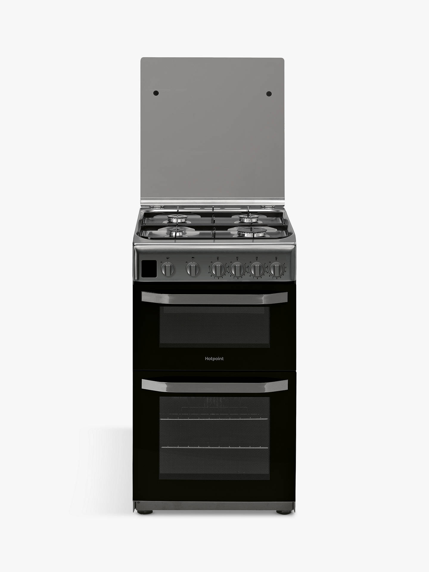 Buy Hotpoint CLOE HD5G00CCX/UK 50cm Double Gas Cooker, A Energy Rating, Stainless Steel Online at johnlewis.com