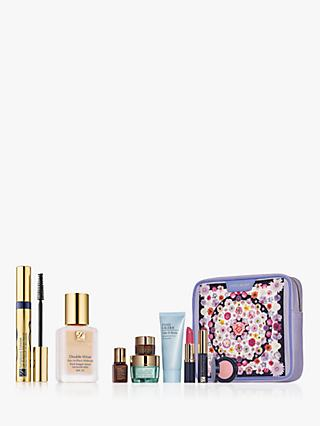 Estée Lauder Double Wear Stay-In-Place Foundation SPF10, 0N1 Alabaster and Mascara