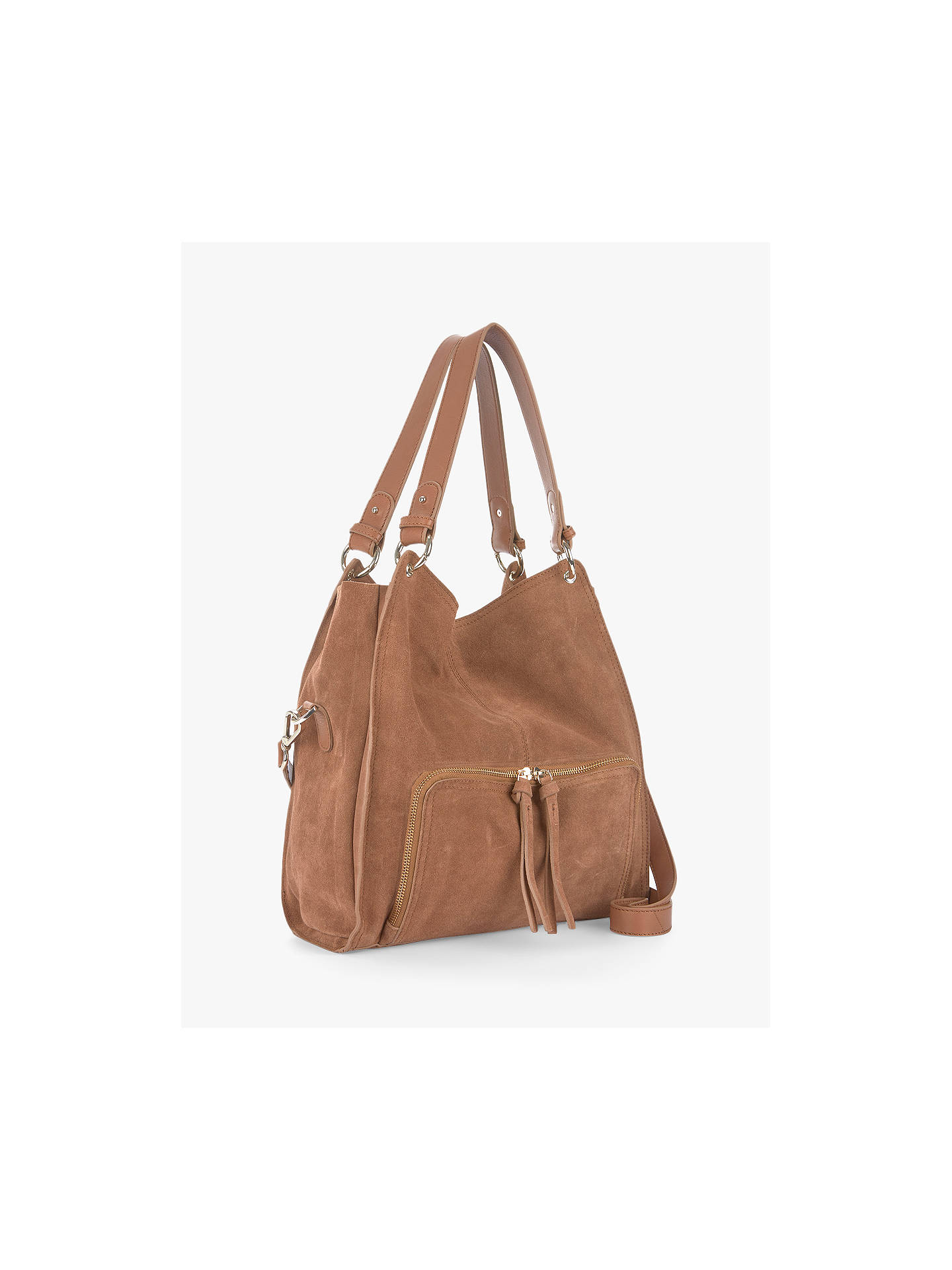 272fb1663f0514 Buy Mint Velvet Nelly Leather Slouch Tote Bag, Brown Online at  johnlewis.com ...