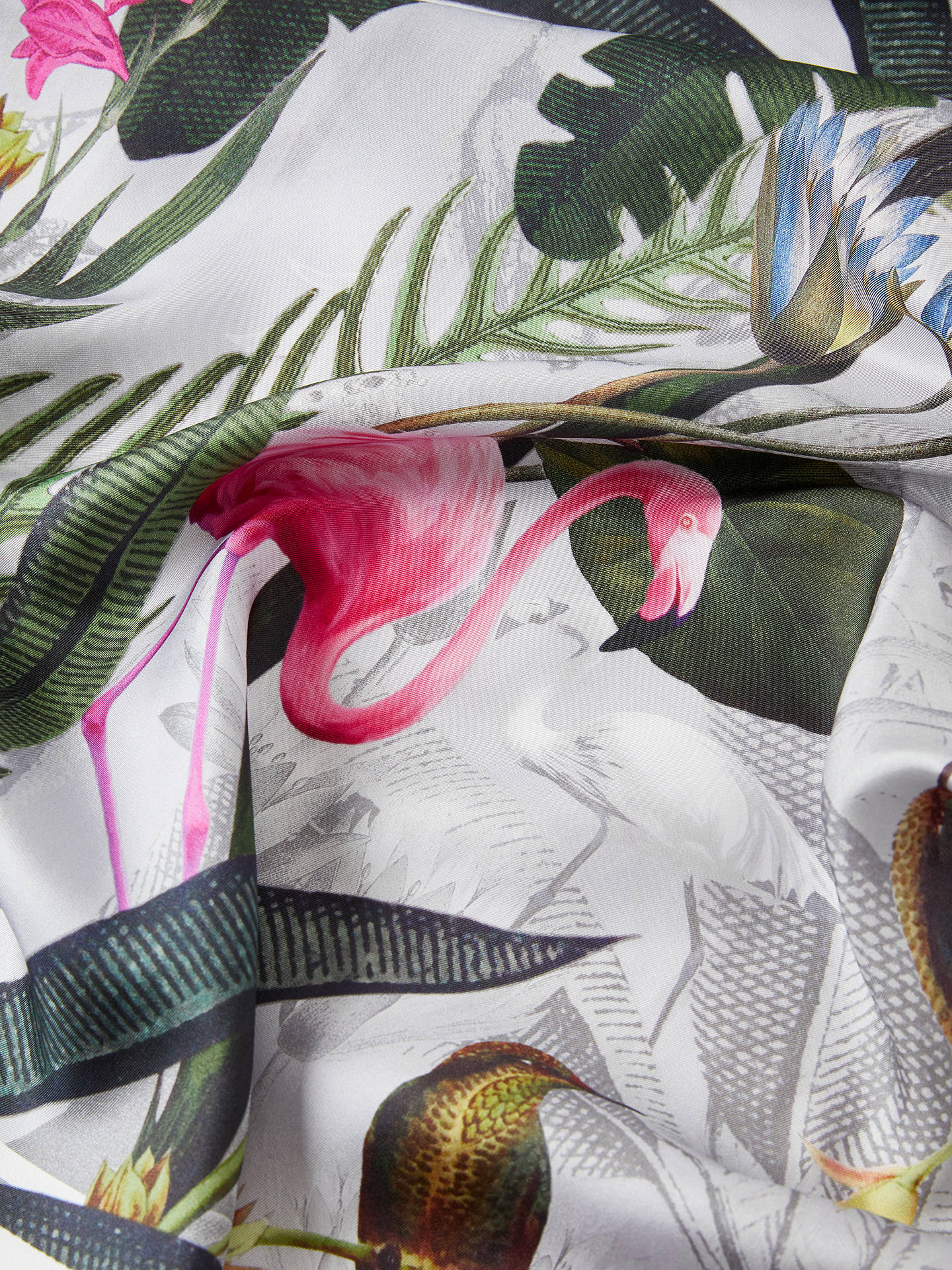 Buy Ted Baker Pagee Floral Silk Square Scarf, Multi Online at johnlewis.com