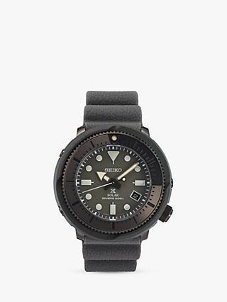 a0f64cec4cc053 Seiko SNE537P1 Men s Streets Date Silicone Strap Watch