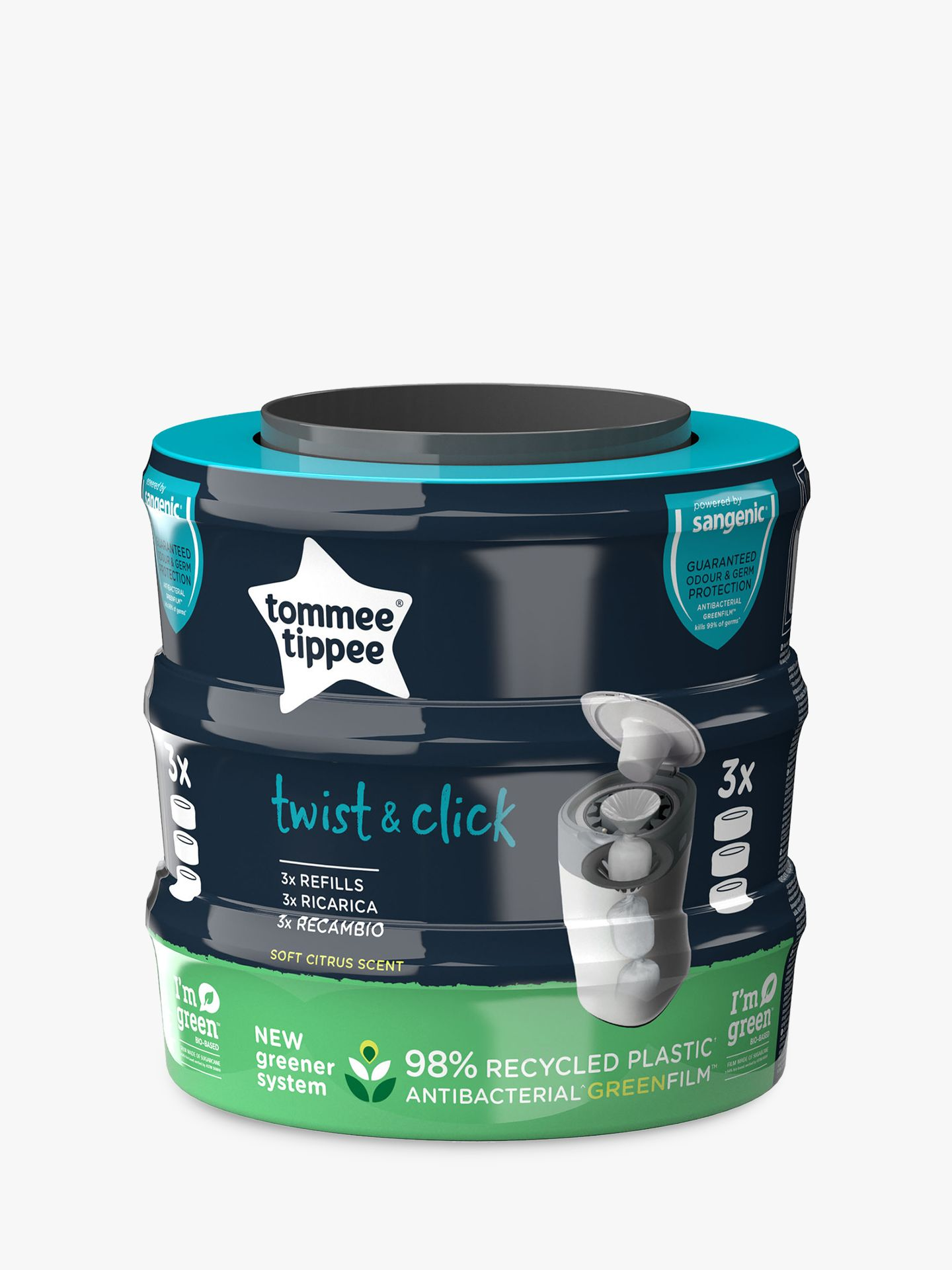 Tommee Tippee Tommee Tippee Twist Sangenic Refill Pack, 3 Pack
