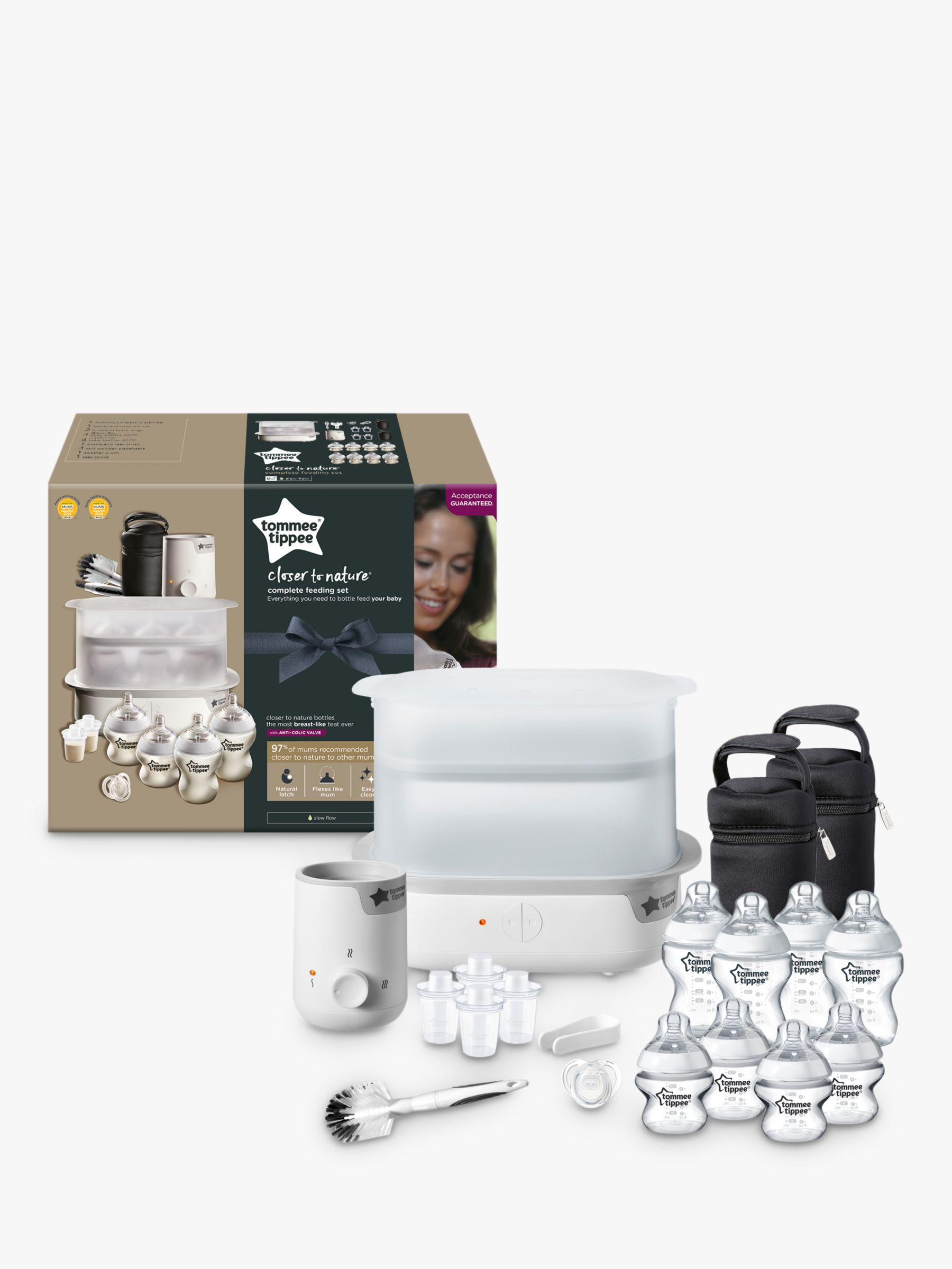 Tommee Tippee Tommee Tippee Closer To Nature Complete Feeding Set, White
