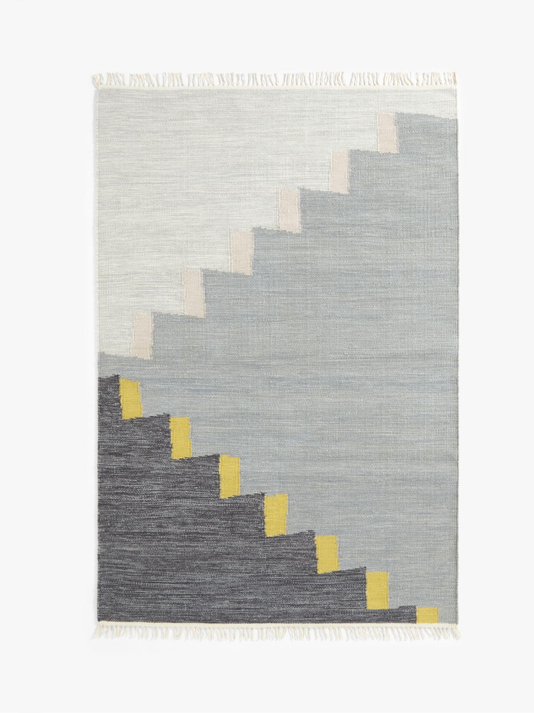 John Lewis Partners Hand Woven Ascent Flatweave Rug Grey