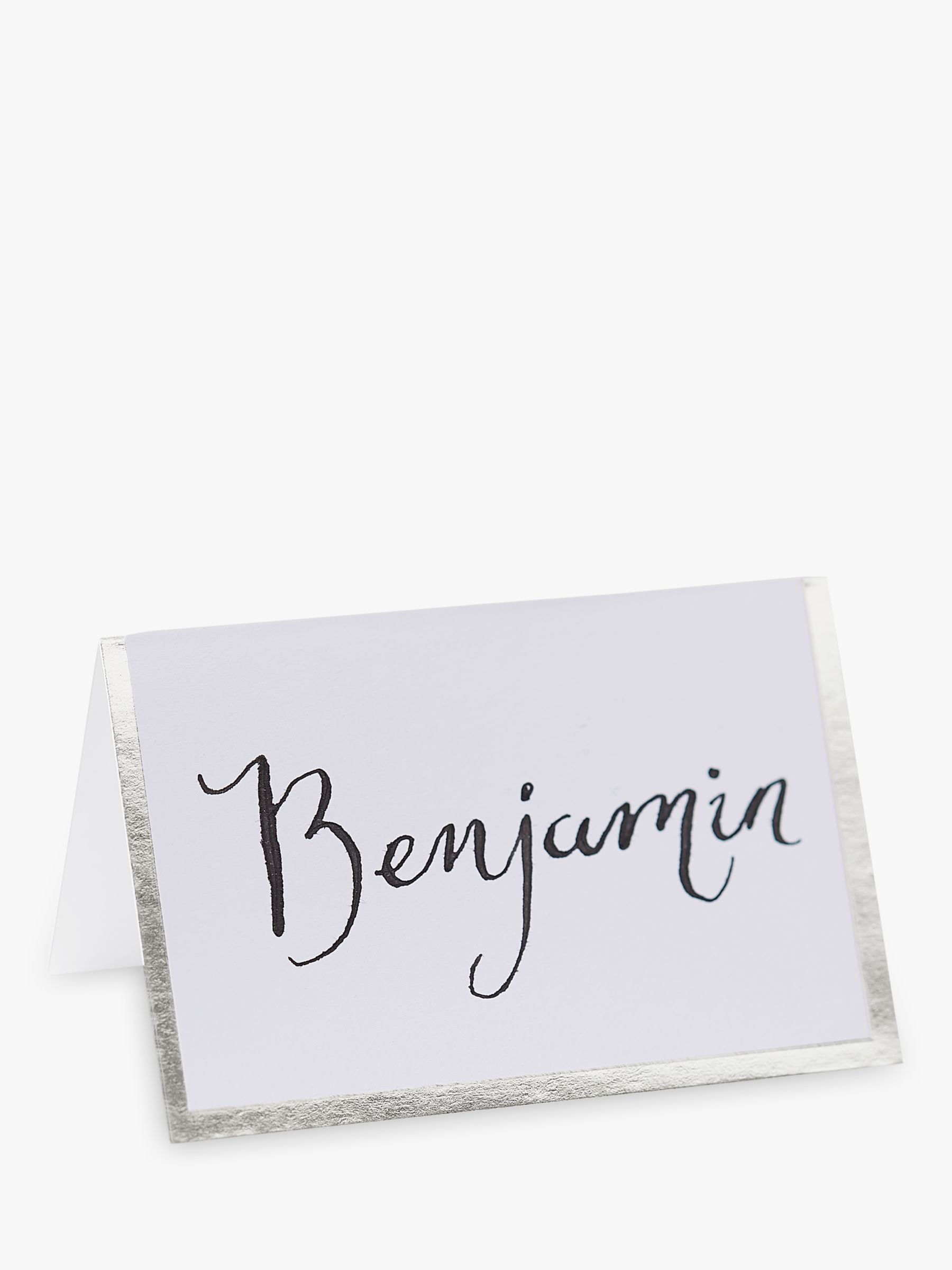 Ginger Ray Ginger Ray Silver Border Place Cards, Pack of 10