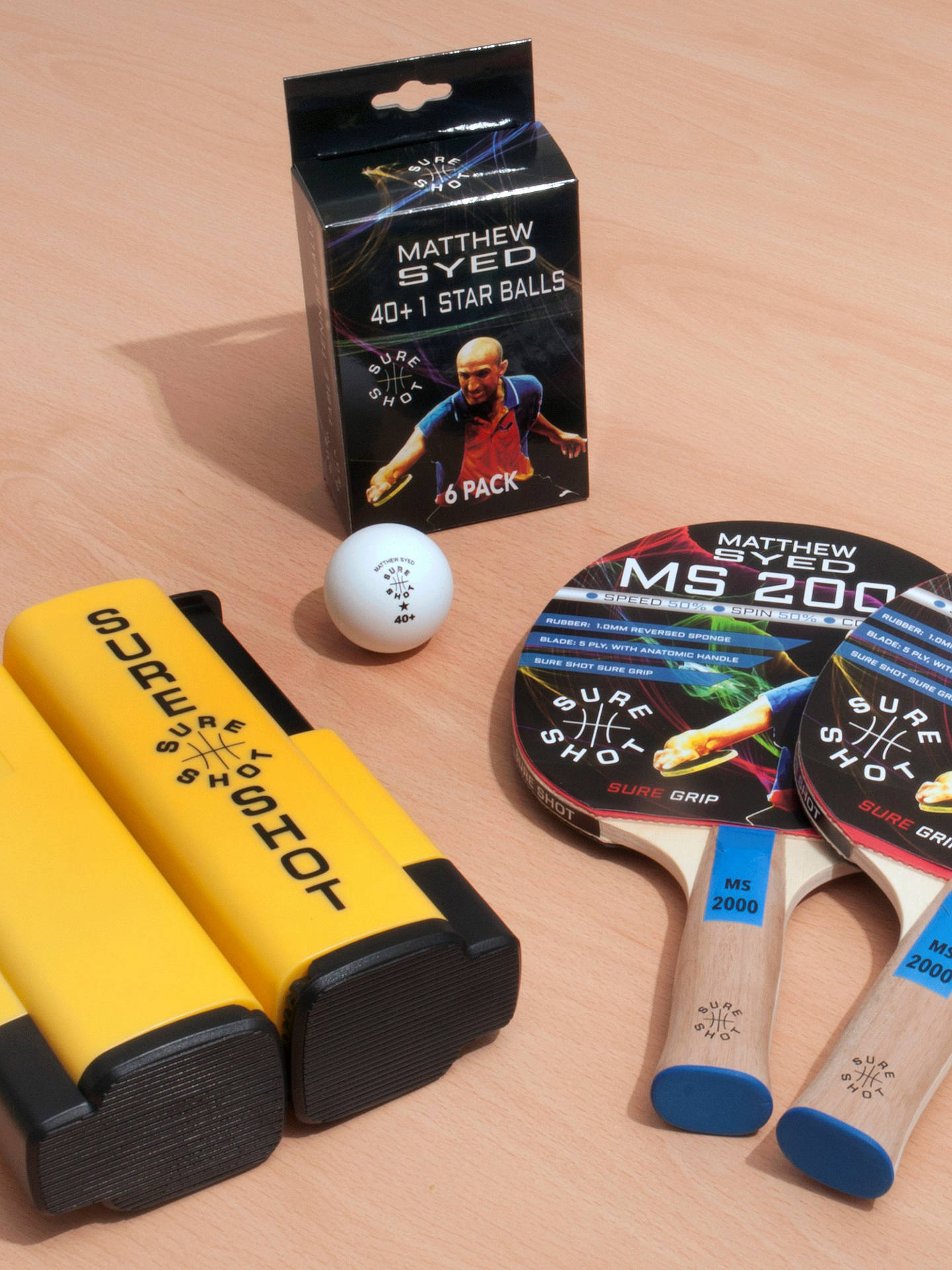 bacf0ab3681 Buy Butterfly Sure Shot Matthew Syed Table Tennis Set Online at  johnlewis.com ...