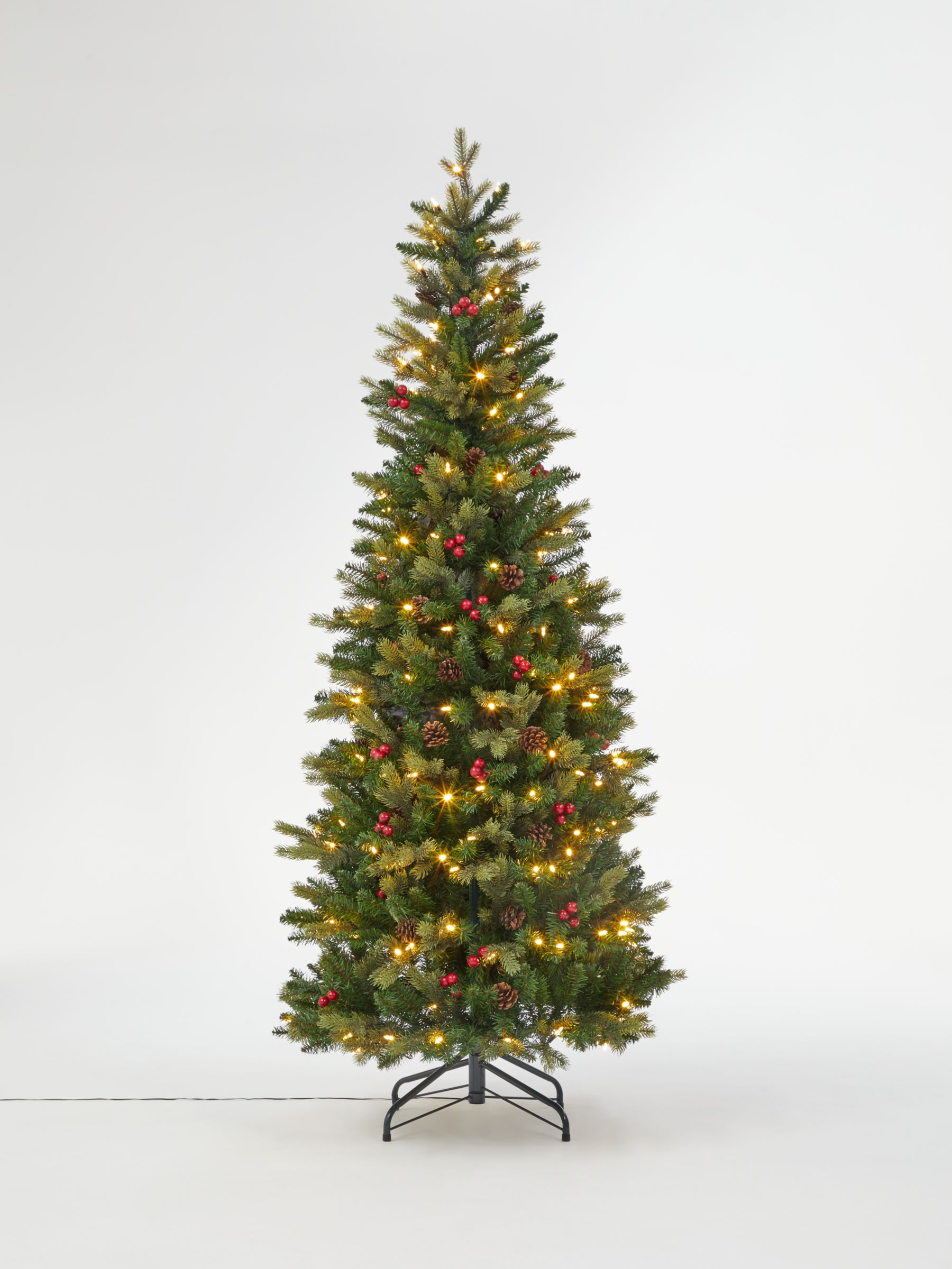 Pop Up Christmas Tree.John Lewis Partners Cone And Berry Pop Up Pre Lit Christmas Tree 6ft