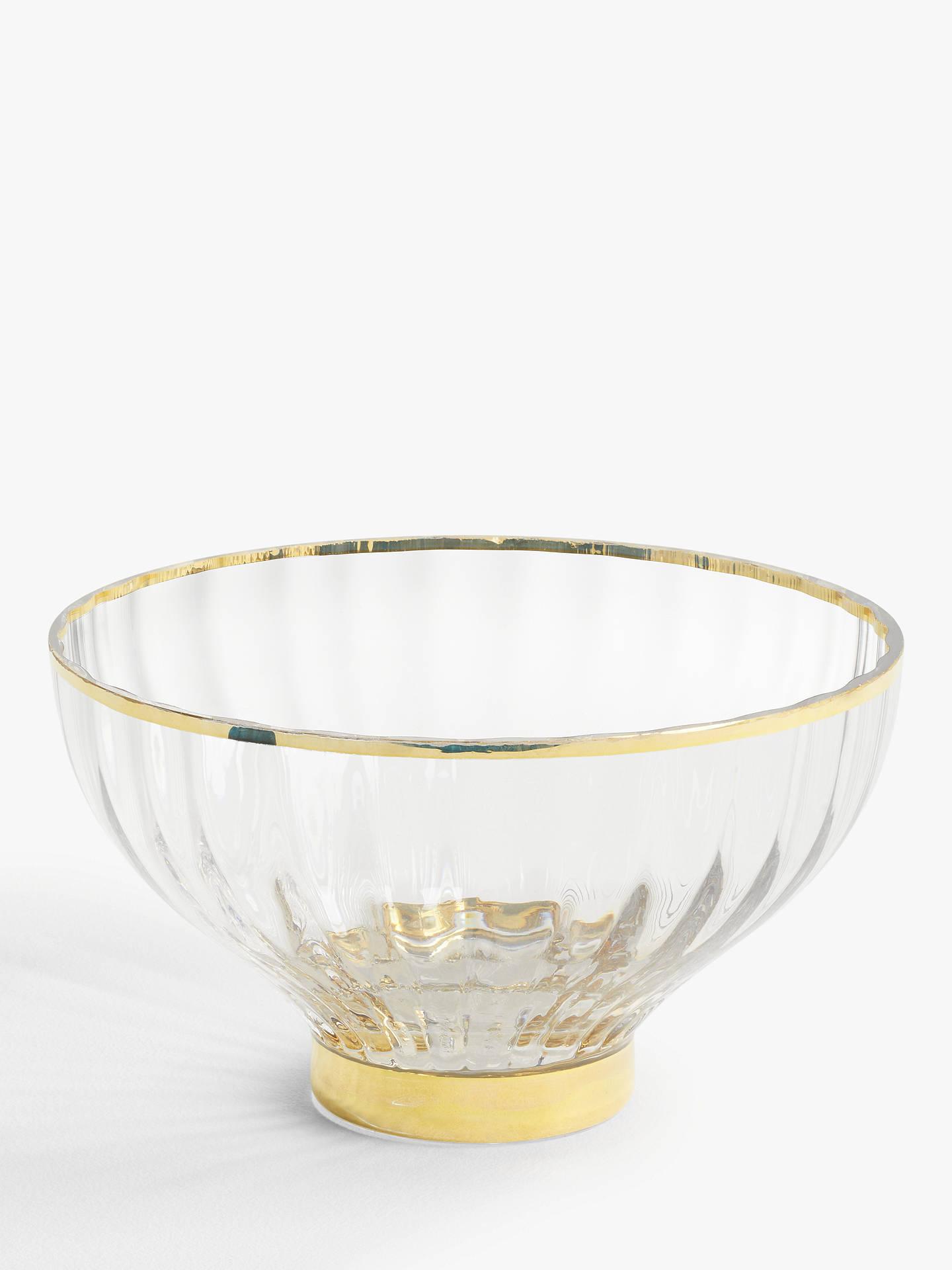 Decorative Clear Glass Bowls.John Lewis Partners Decorative Glass Bowl 23cm Clear Gold