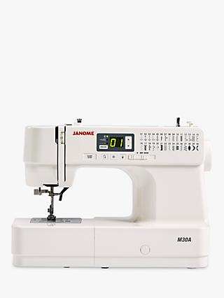 Janome M30A Sewing Machine, White
