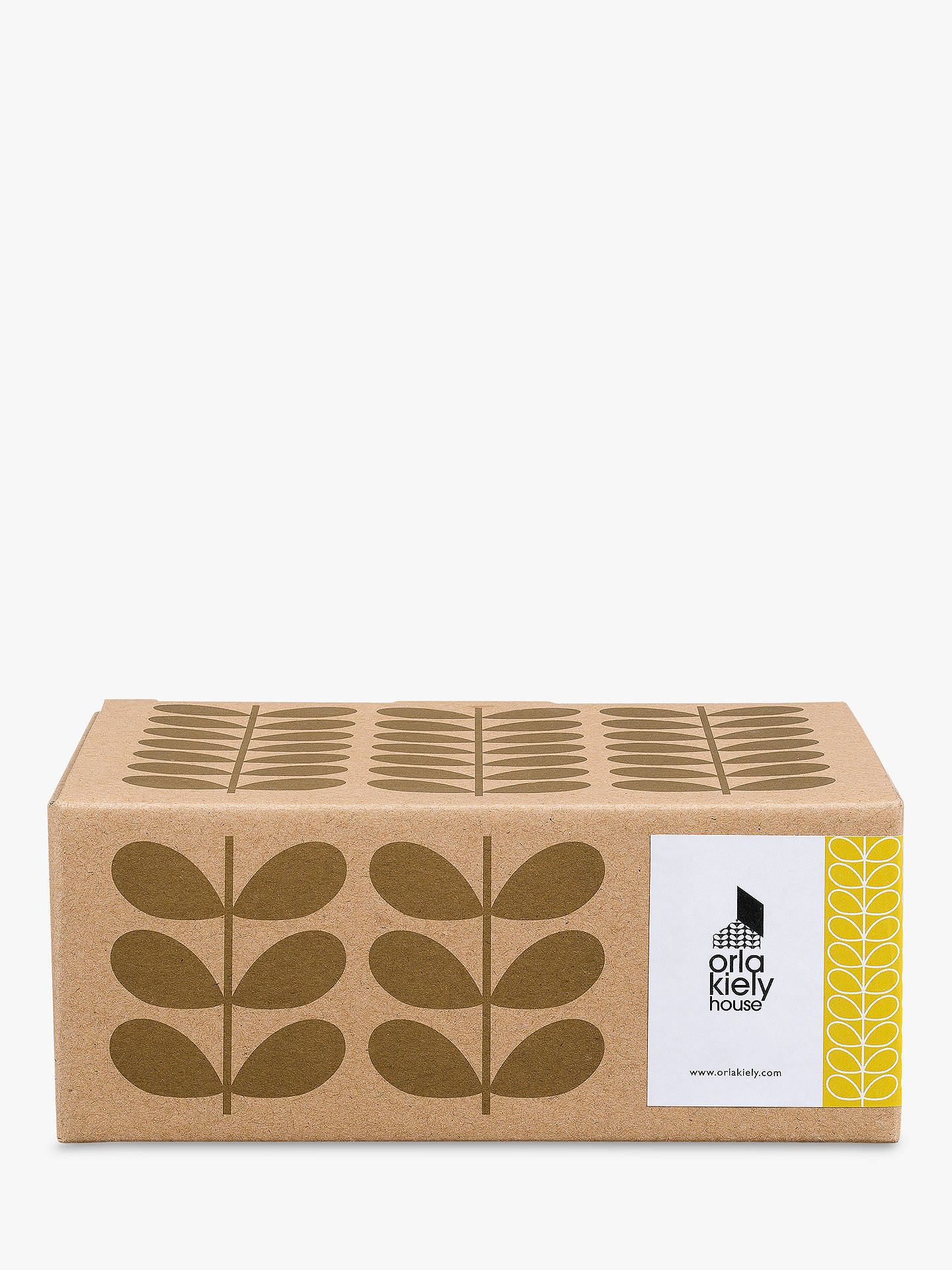 Buy Orla Kiely Linear Stem Stacking Espresso Mug, Set of 4, Multi, 100ml Online at johnlewis.com