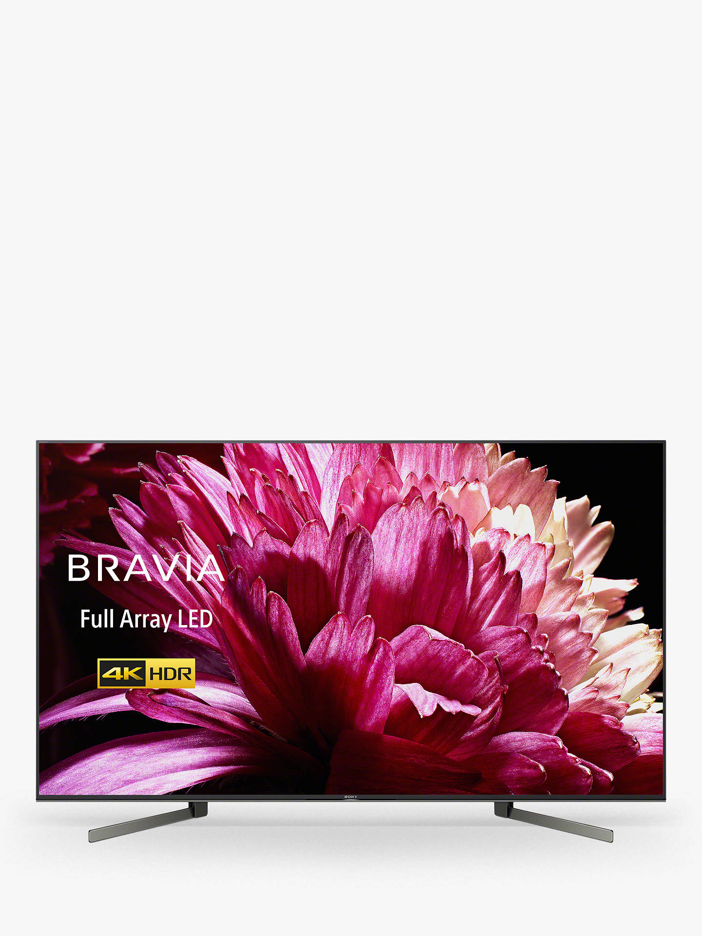 "Buy Sony Bravia KD65XG9505 (2019) LED HDR 4K Ultra HD Smart Android TV, 65"" with Freeview HD & Youview, Black Online at johnlewis.com"