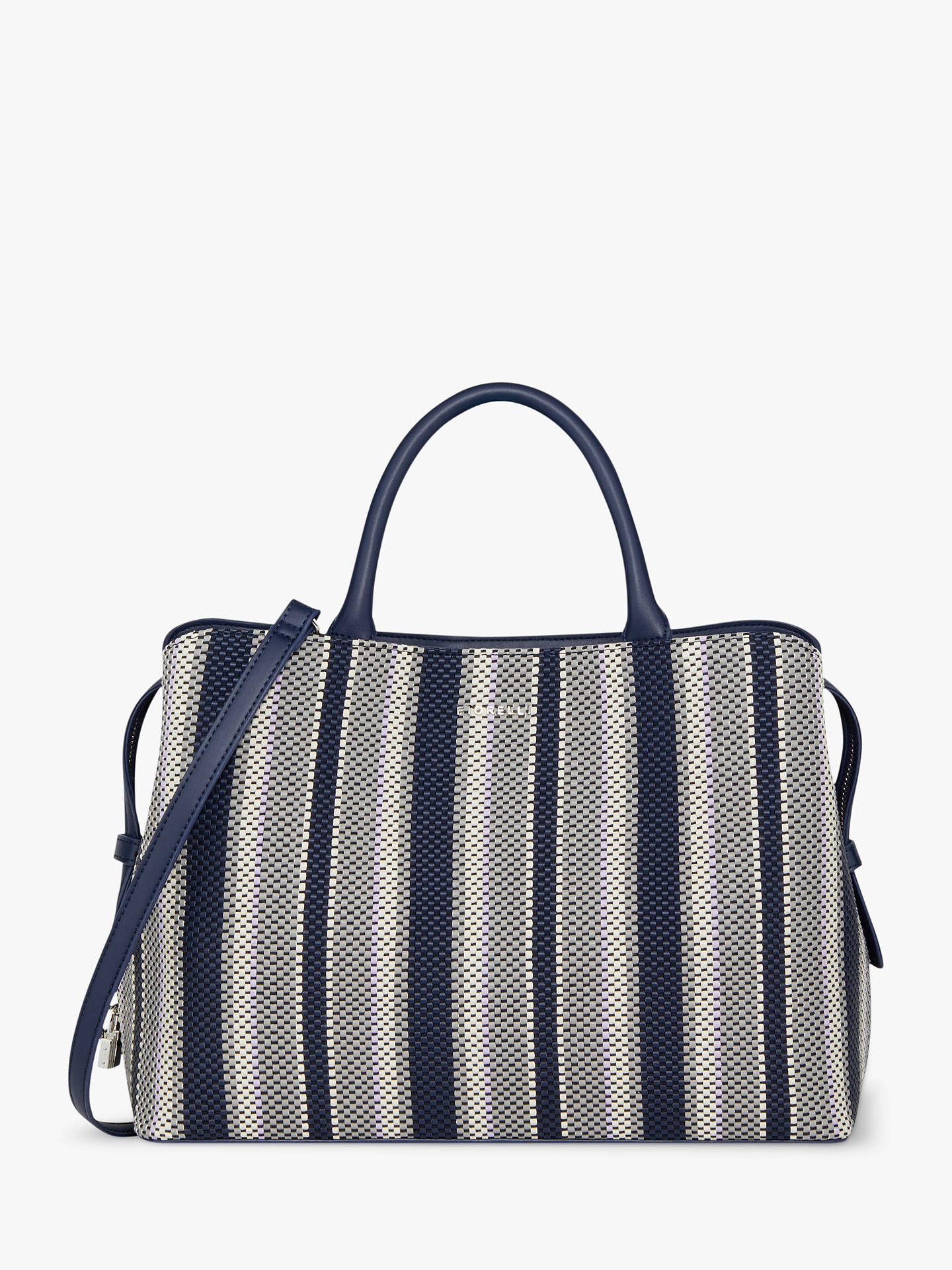 47c92626f435 Buy Fiorelli Bethnal Triple Compartment Grab Bag, Weave Mix Online at  johnlewis.com ...