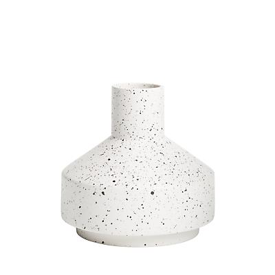 John Lewis & Partners Small Contemporary Vase, 17.5cm, White