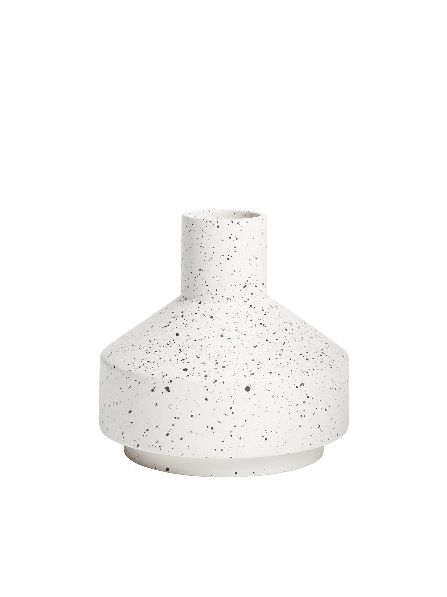 John Lewis & Partners Small Contemporary Vase, 17.5cm, White by John Lewis & Partners