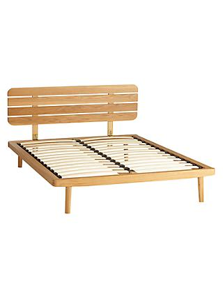 John Lewis & Partners Bow Slatted Headboard Bed Frame, Double