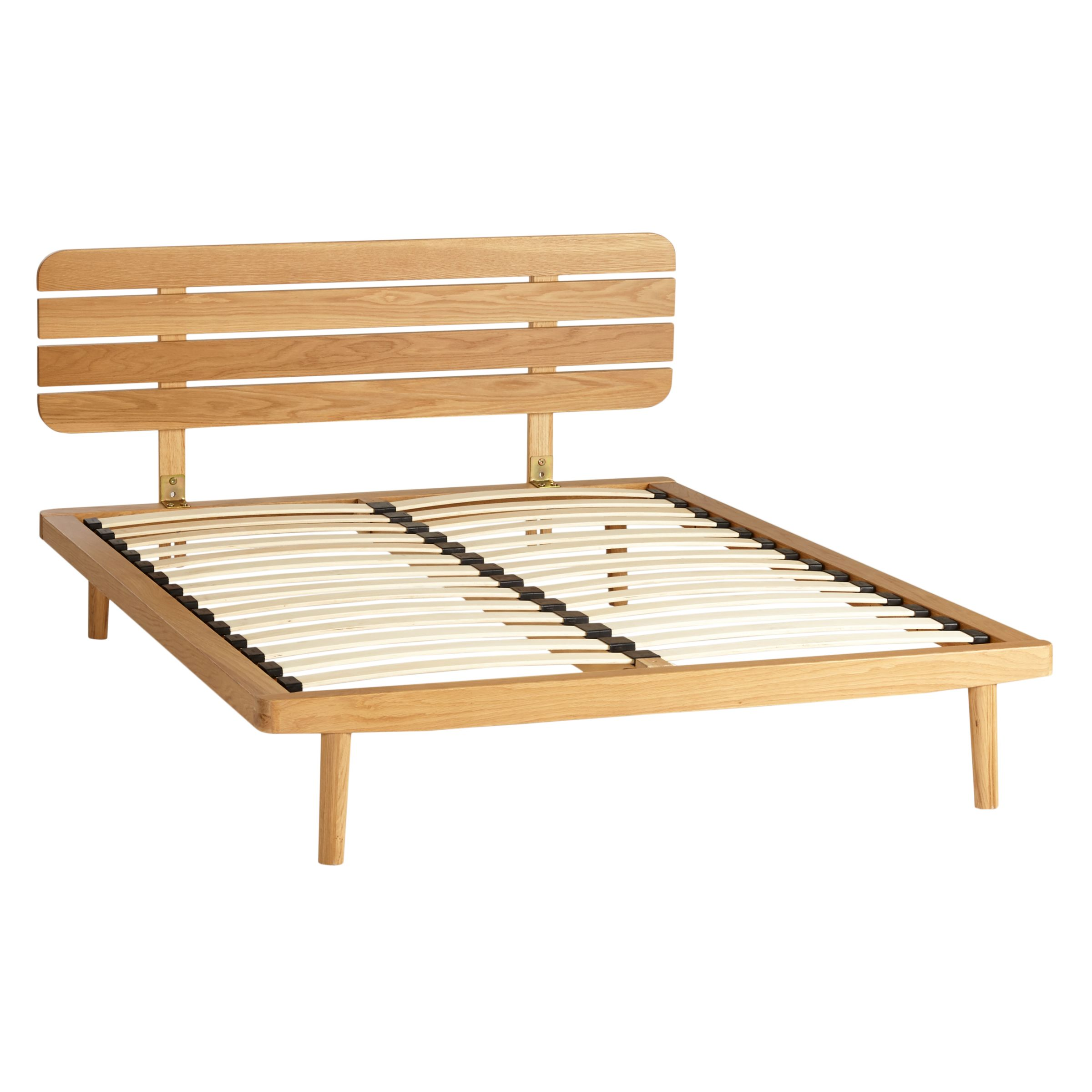 House By John Lewis Bow Slatted Headboard Bed Frame King Size At John Lewis Partners