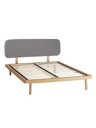 House by John Lewis Bow Upholstered Headboard Bed Frame, King Size