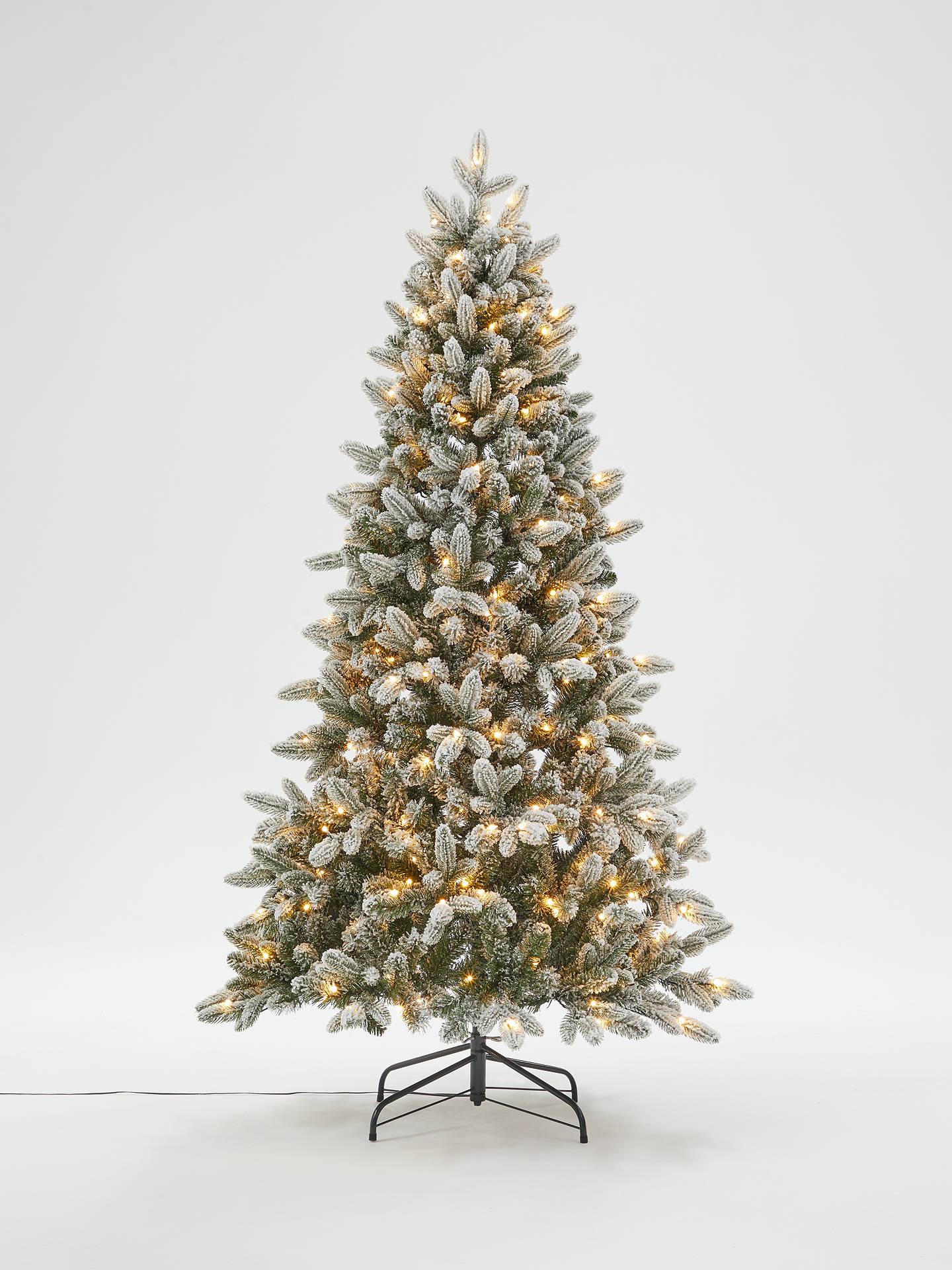 John Lewis & Partners Pre-Lit Snowy Spruce Christmas Tree, 6ft at John Lewis & Partners