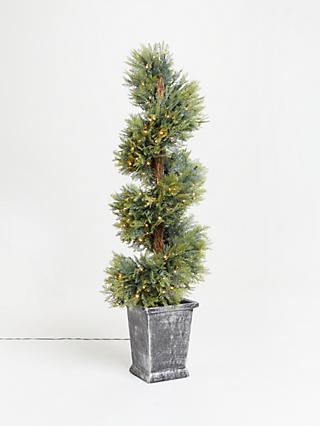 John Lewis & Partners Potted Topiary Pre-lit Christmas Tree, 5ft