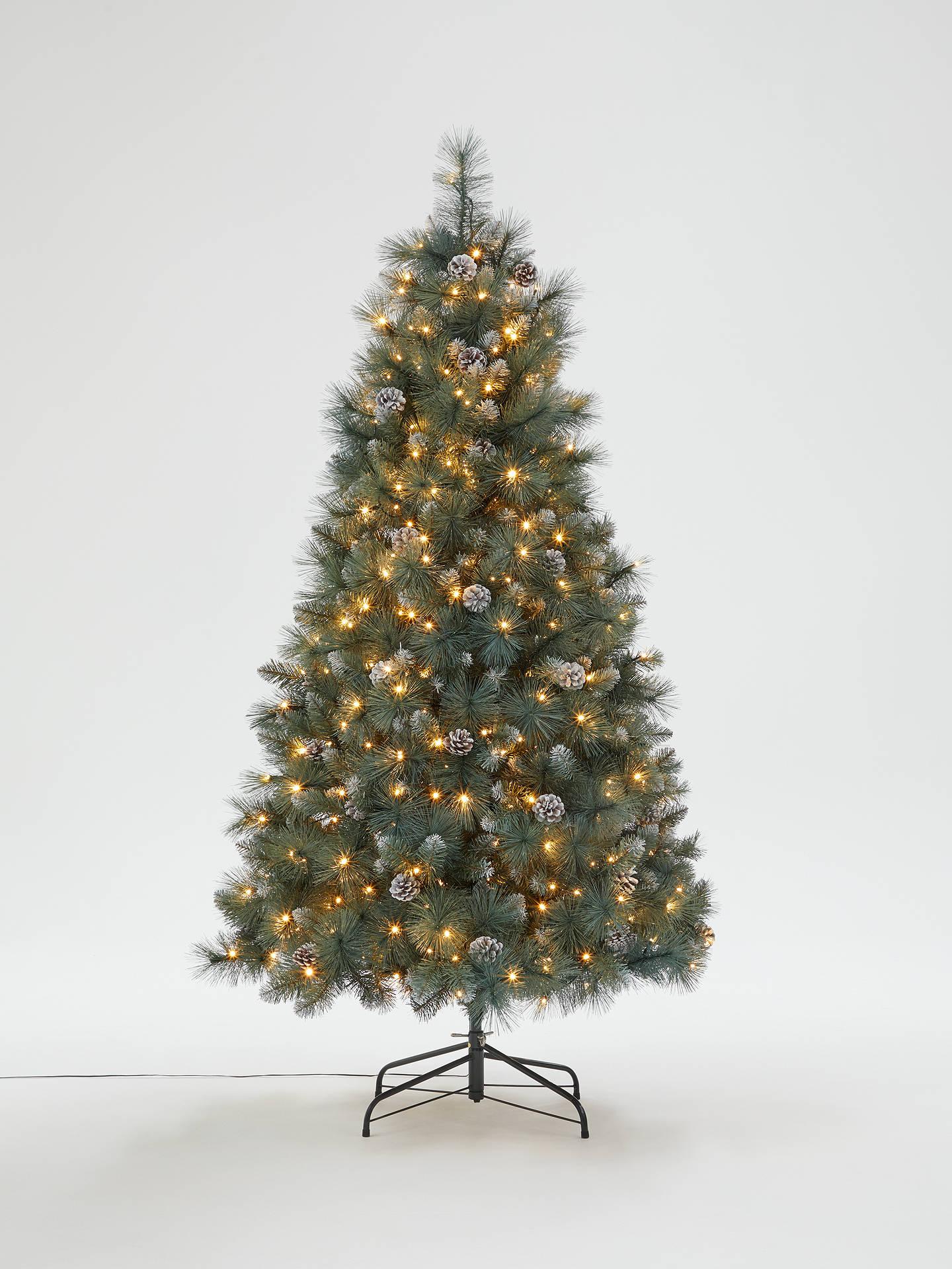 John Lewis & Partners Smokey Pine Pre-lit Christmas Tree, 6ft at John Lewis & Partners