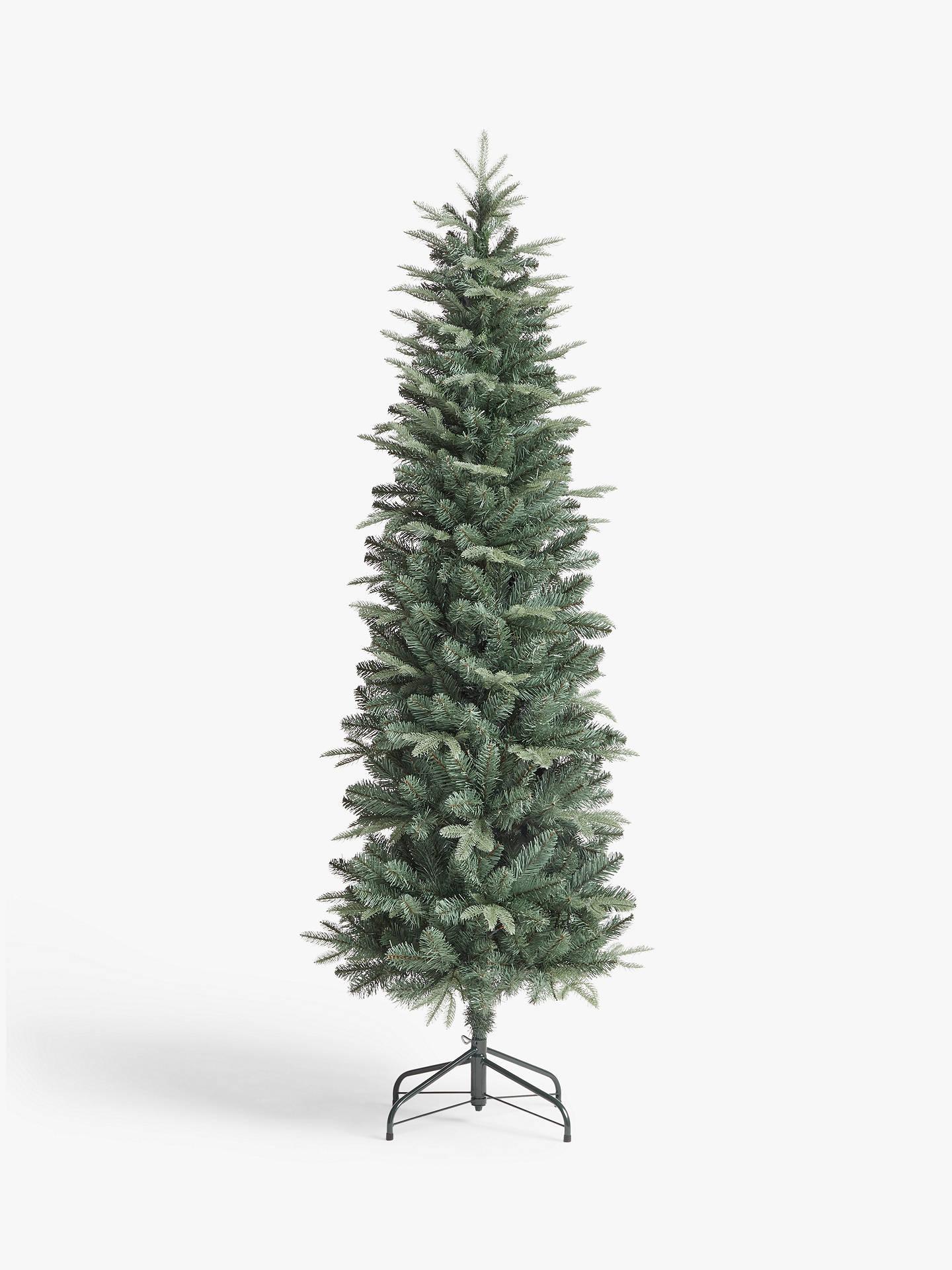 John Lewis Partners Slimline Blue Spruce Unlit Christmas Tree 6ft