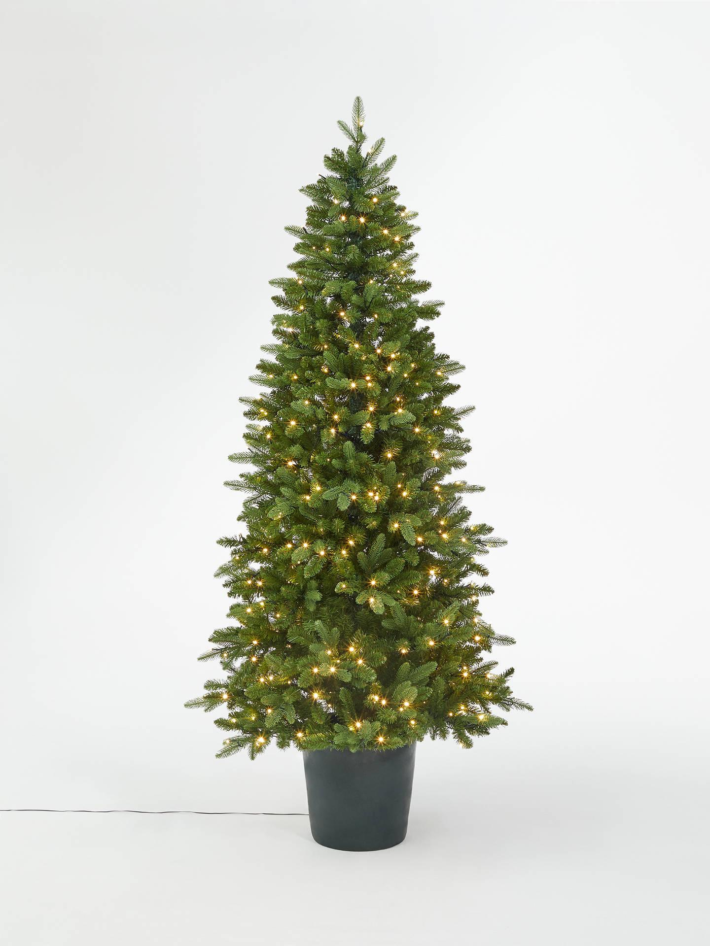 John Lewis & Partners Bala Green Potted Pre-lit Christmas Tree, 7ft at John Lewis & Partners