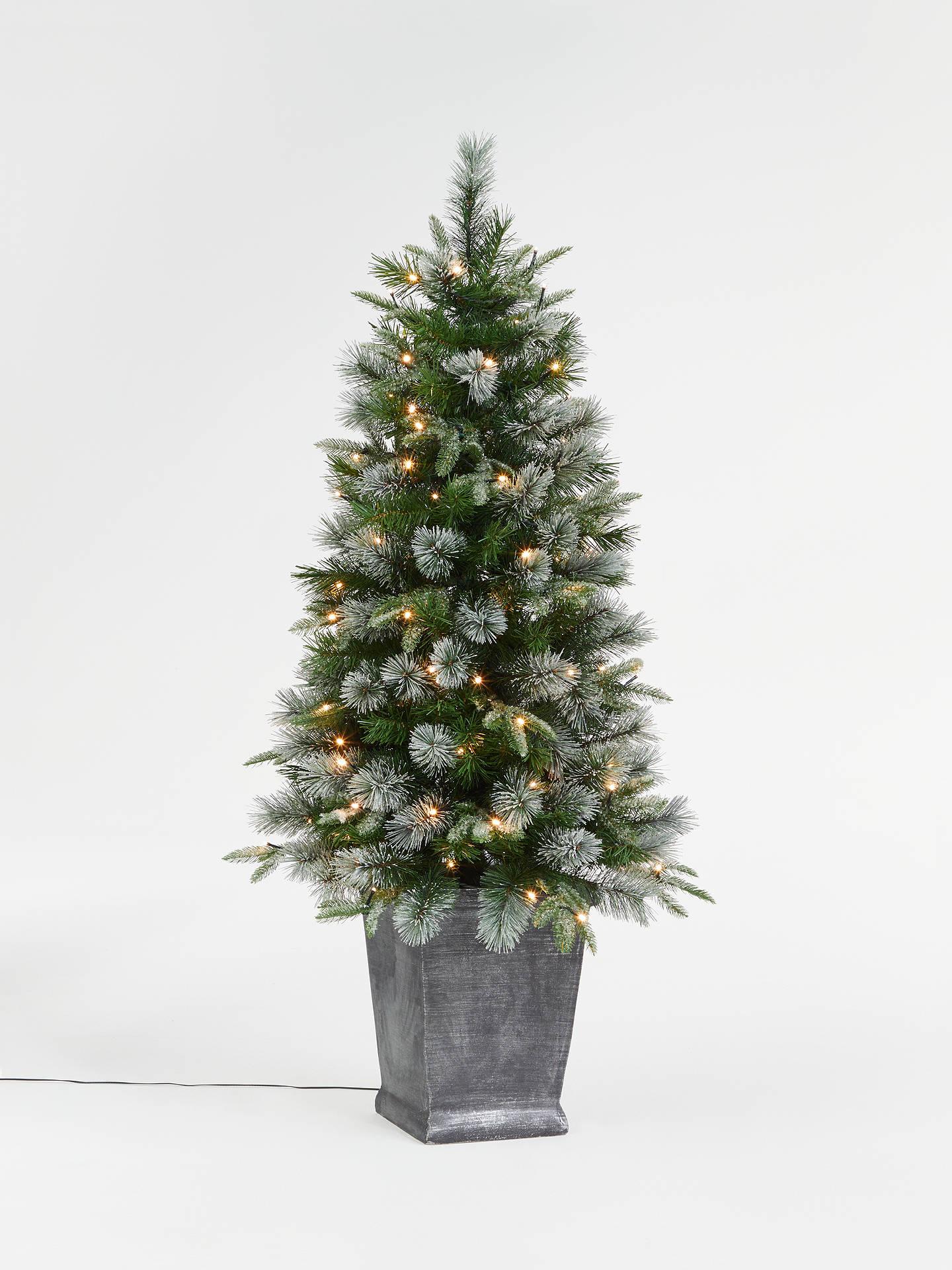 John Lewis Partners St Anton Potted Pre Lit Christmas Tree 4 5ft