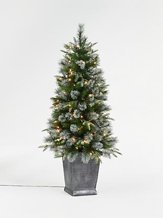 John Lewis & Partners St. Anton Potted Pre-lit Christmas Tree, 4.5ft