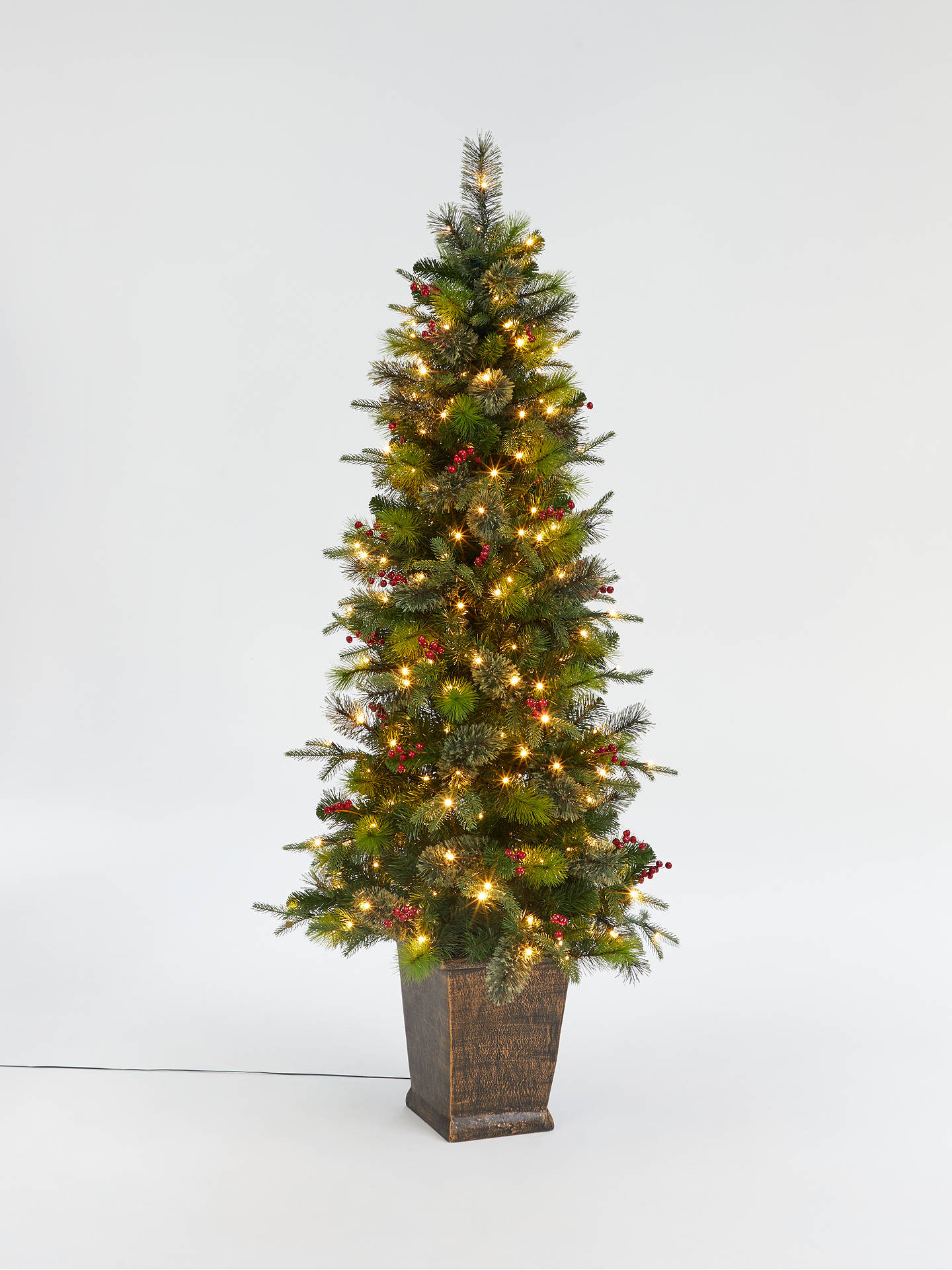 Buy John Lewis & Partners Balmoral Potted Pre-Lit Christmas Tree, 6ft Online at johnlewis.com