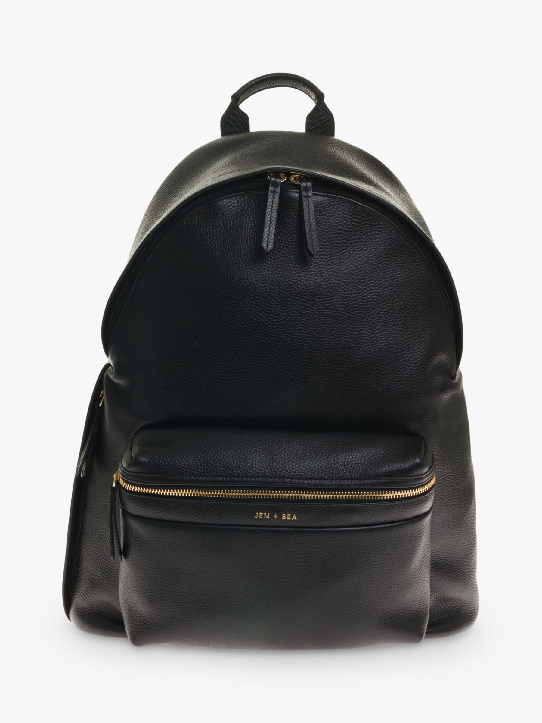 Jem + Bea JEM + BEA Jamie Leather Backpack, Black