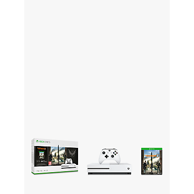 Microsoft Xbox One S Console, 1TB, with Wireless Controller and Tom Clancys The Division 2