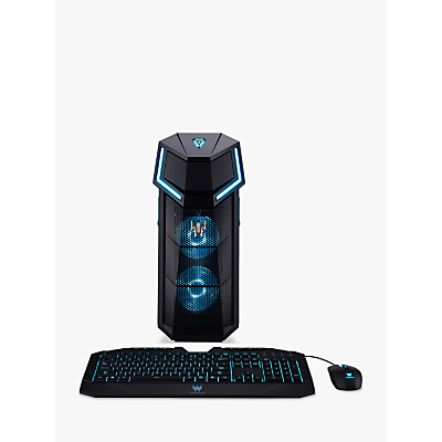 Acer Predator Orion 5000 Gaming PC, Intel Core i7 Processor, 16GB RAM + 16GB Intel Optane, 2TB HDD + 256GB SSD, GeForce RTX 2080, Black
