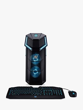 Acer Predator Orion 5000 Gaming PC, Intel Core i7 Processor, 16GB RAM + 16GB Intel Optane, 2TB HDD + 256GB SSD, GeForce RTX 2080, Black