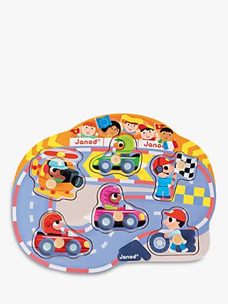 Janod Happy Racing Puzzle, 6 Pieces