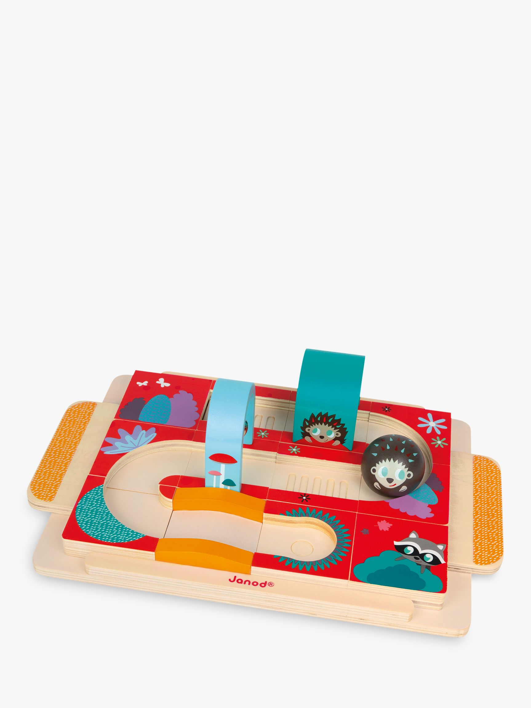 Janod Janod Hedgehog Rally Race Course Puzzle, 12 Pieces