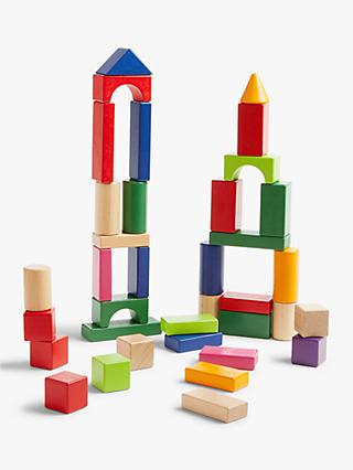 John Lewis & Partners 100 Wooden Building Blocks
