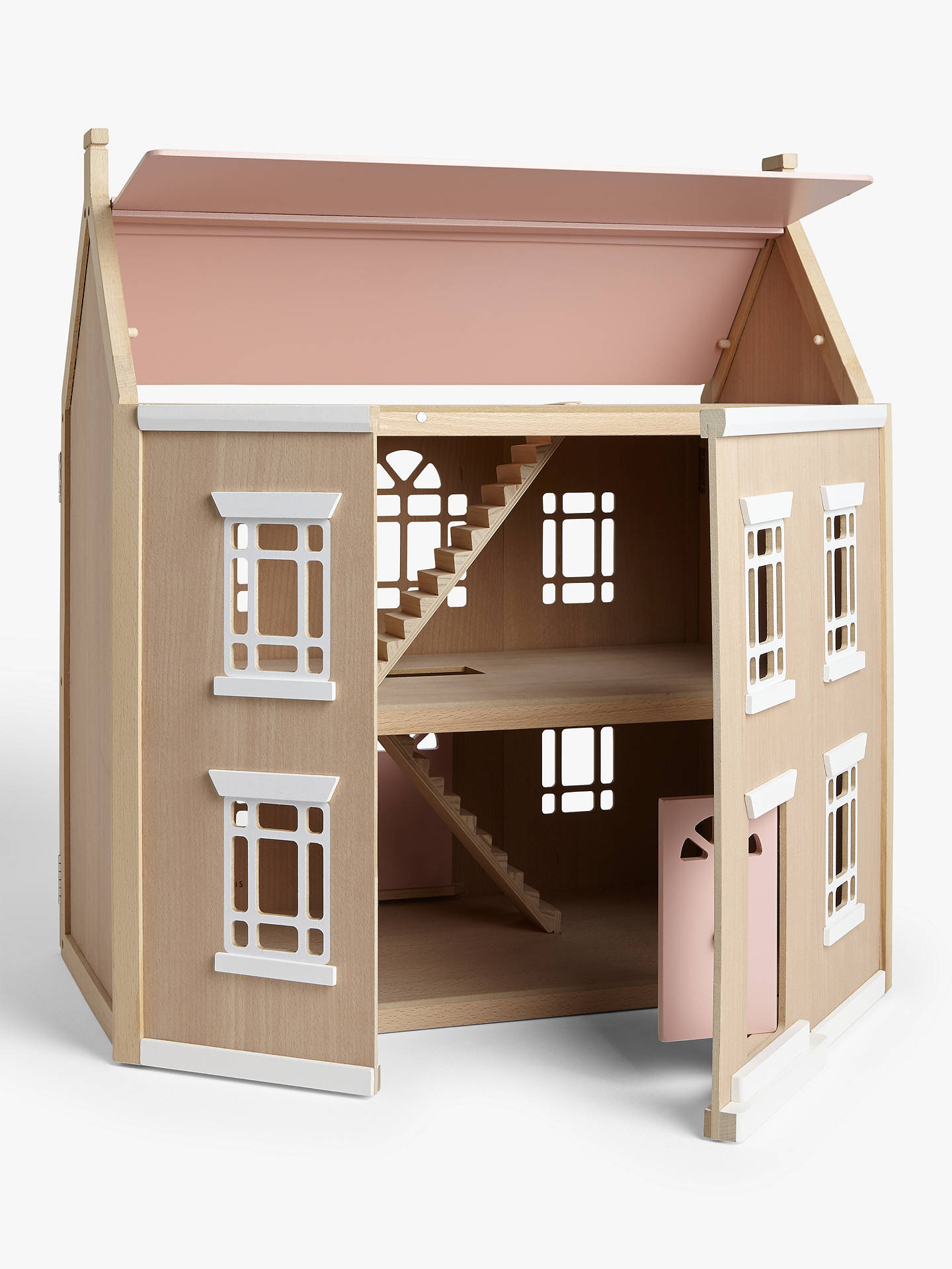 Buy John Lewis & Partners Wooden Leckford Doll's House Online at johnlewis.com