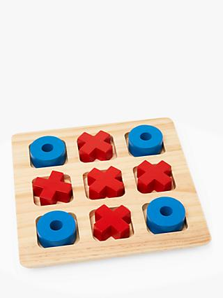 John Lewis & Partners Wooden Noughts & Crosses Game