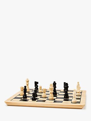 John Lewis & Partners Wooden Chess & Draughts Game