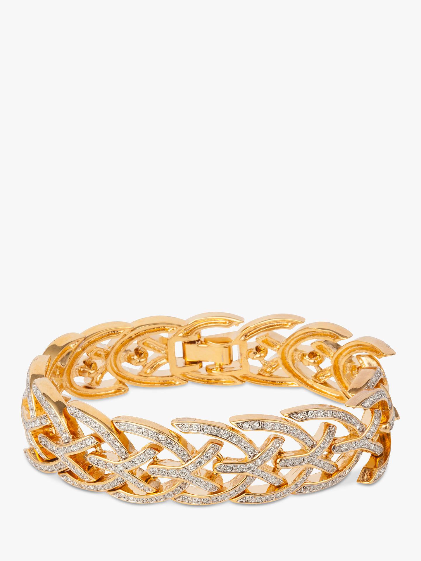 3f0f640fd91d Buy Susan Caplan Vintage D Orlan 22ct Gold Plated Swarovski Crystal Bracelet