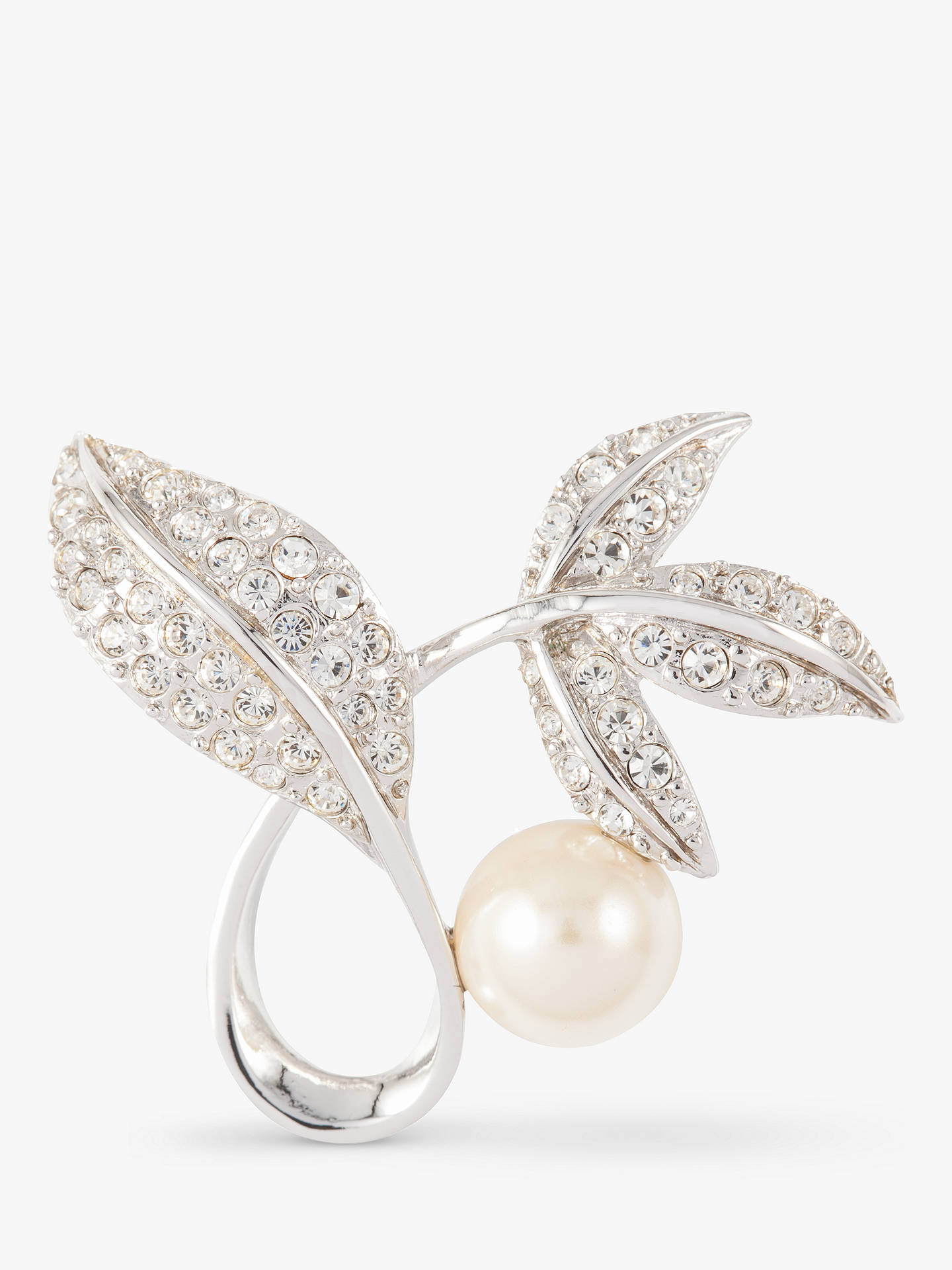 1b71856e9126 Buy Susan Caplan Vintage D Orlan Silver Plated Faux Pearl and Swarovski  Crystal Flower Brooch ...