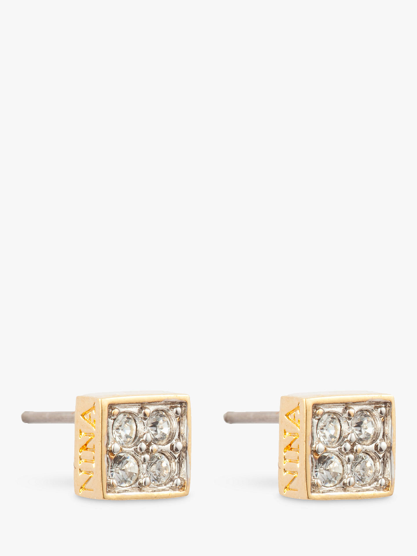 f4a3cf9d8 Buy Susan Caplan Vintage Nina Ricci Gold Plated Swarovski Crystal Square  Stud Earrings, Gold Online ...