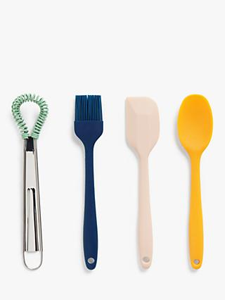 House by John Lewis Baking Utensils, Set of 4, Assorted