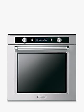 KitchenAid KOTSP 60602 Pyrolytic Single Built-in Electric Oven, A+ Energy Rating, Stainless Steel
