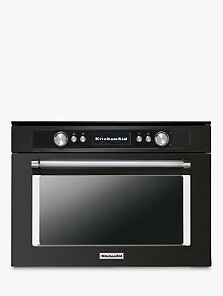 KitchenAid KOQCXB 45600 Built-in Single Electric Oven, A+ Energy Rating, Black Steel