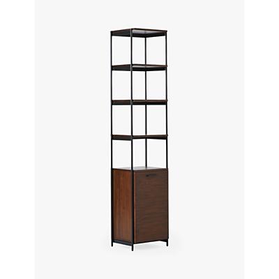 west elm Foundry Narrow Bookcase, Dark Walnut